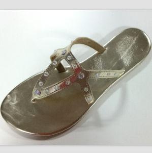 Mesdames chaussons plat simple avec des perles