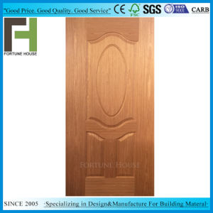 Nouveau EV-placage de bois de teck HDF moulé de la peau de porte