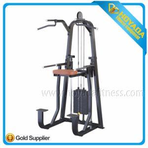 Strumentazione di sport commerciale di ginnastica di forma fisica della costruzione di corpo di aiuto di alta qualità DIP/Chin dell'idraulica 1007