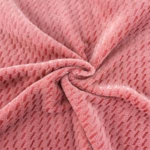 100% poliéster de hilo luminoso de franela Jacquard tejido de mantas o ropa de cama o prendas de vestir