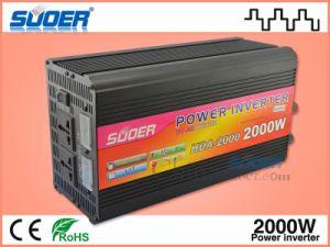 Suoer inversor Onda senoidal modificada 2000W 24V 220V, Inversor de potencia con el cargador (HDA-2000B)