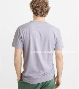 남자를 위한 형식 간결 소매 t-셔츠의 아래 단추를 끼우십시오