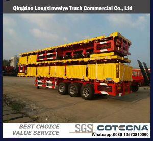 BPW 차축 20FT 40FT 콘테이너 또는 공용품 또는 반 화물 평상형 트레일러 또는 플래트홈 트럭 트레일러