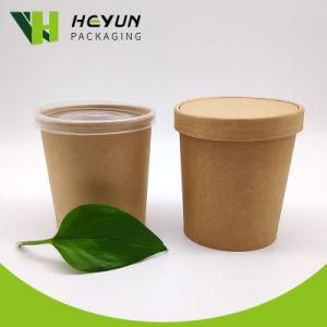 8-16descartáveis oz sopa de alimentar papel Personalizado Cup com tampa