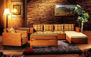 Antique sofá de mimbre y rattan Natural establece
