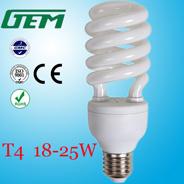 18-25W T4 halbe gewundene energiesparende Lampe