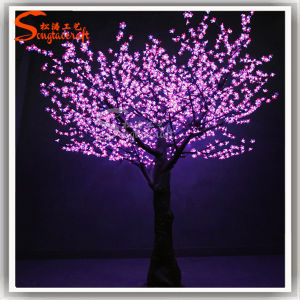 Luz de LED de Flor de Cerejeira Artificial Natal Árvore de fibra de vidro