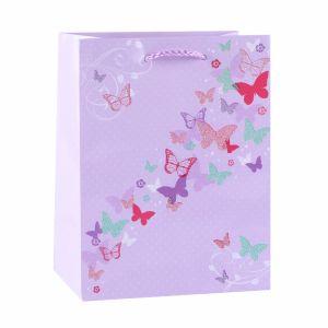 塗被紙のピンクのシマウマのケーキ甘いキャンデーのショッピングギフト袋