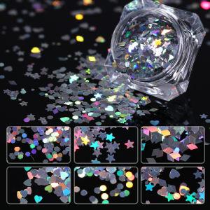 装飾的な大きさ3Dの釘の芸術のホログラフィックきらめきは製造者はげる