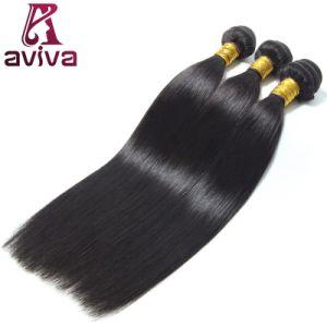 Extension de cheveux humains brésilien directement la couleur naturelle vierge Remy Hair