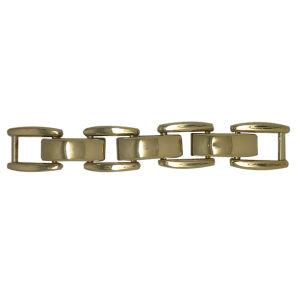 Commerce de gros cristaux de la chaîne d'or Mesh, maille losange chaussures accessoires