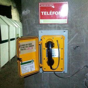 Сверхпрочная вандалозащищенная купольная камера телефоном IP66 чрезвычайного положения в промышленных телефон для туннеля
