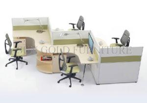 De Aluminio más modernas con forma de T 2 persona oficina de recepción (SZ-WST741)