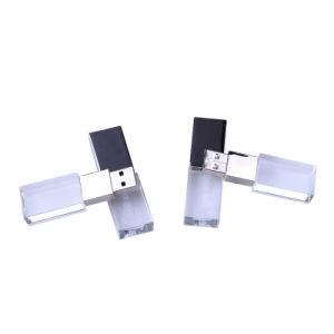 Hotest 3D 로고를 가진 수정같은 USB 섬광 드라이브