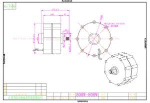 generador inferior trifásico del alternador del imán permanente de la CA Pmg de la revolución por minuto de 500W 12V/24V/48V