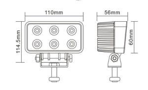 18Вт Светодиодные рабочего освещения на тракторе ATV оборудование для тяжелого режима работы экскаватора рабочий фонарь