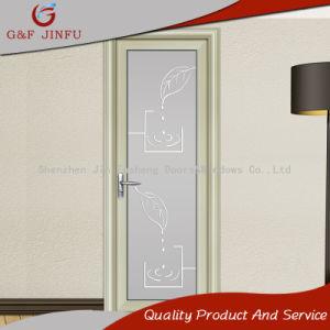 Алюминий двойные стекла дверная рама перемещена ванная комната двери с декоративными моделей