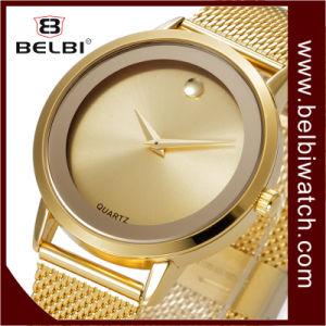 Reloj analogico de acero impermeable del regalo de los hombres del cuarzo del asunto simple de Belbi