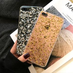 Les paillettes brillantes de luxe Bling Bling couvercle transparent Téléphone Mobile Téléphone pour iPhone 8 Plus de cas