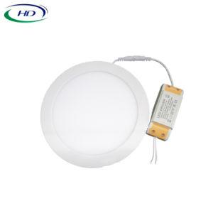 Ronda 15W Panel LED LED montados en la superficie de la luz de lámpara de techo