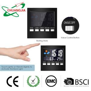 Écran LCD couleur numérique multifonction Réveil avec thermomètre hygromètre afficher