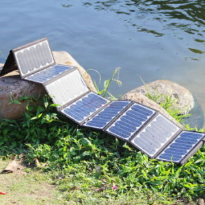 60W Sunpower Panneau solaire pliable de pliage portable pour le camping