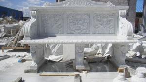 大理石手によって切り分けられる石造りのテーブル及びベンチ(FXのベンチ001)