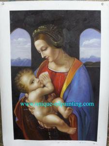 Olieverfschilderij, het Maagdelijke Olieverfschilderij van Mary, de Olieverfschilderijen van Jesus (V.N.-MARY2935)
