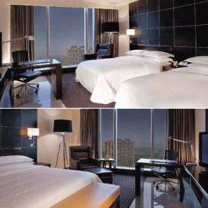 Meubles réglés de chambre à coucher de meubles d'hôtel de conception moderne réglés (SKB02)
