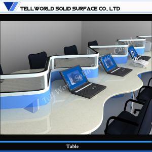 Роскошный настольный дизайн мраморным верхней части исполнительного бюро (TW-006)