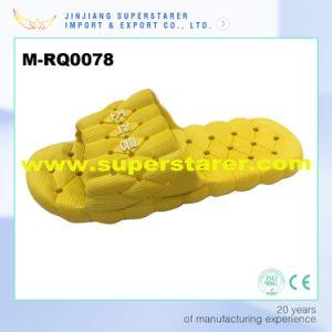Дышащий материал ПВХ Holey мужчин душ тапочки, желтой тапочки