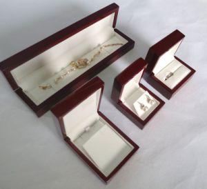 Caixa de jóias de madeira antiga de alta qualidade elegante de madeira