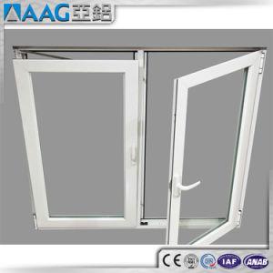 알루미늄 단면도 여닫이 창 Windows 두 배 유리창