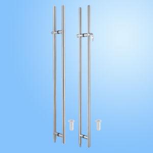 Traitement de porte en verre d'acier inoxydable (FS-1906)