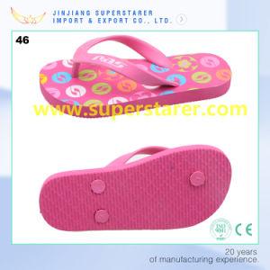 Настраиваемые внутренняя подошва печать розового цвета PE флоп опрокидывания