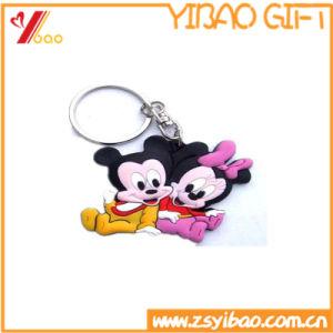 Customed 승진 선물 로고 연약한 PVC Keychain/Keyholder/열쇠 고리 (YB-HD-185)