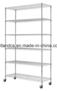 Popular 6 Tiers DIY estante ligero Chrome Estantería Metálica 18 X 48 X H82