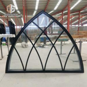 Buen precio de la ventana de arco de fábrica con el diseño de parrilla