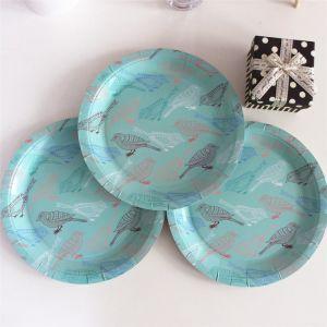 Nouveau design de haute qualité d'oiseaux de la plaque de papier bleu 7/18cm 9/23cm