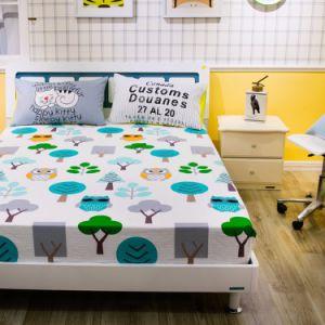 Luxuosa cama de algodão Conjunto de folhas impressas