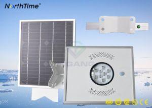 Sensor de movimiento para montaje en poste de energía solar integrado Calle luz LED 12W