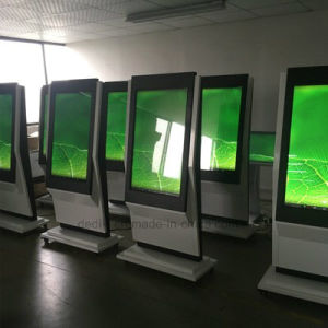 Dedi Digital Fußboden des Signage-43inch, der androiden Kiosk LED LCD Digital bekanntmacht Spieler-videoanzeigen-Spieler steht