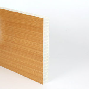 Revestido con envoltura de grano de madera armario termoplástico Panel de panal.