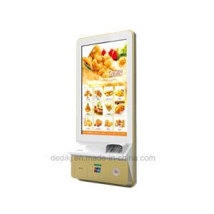 Dedi 32 인치 접촉 열 인쇄 기계를 가진 실내 쇼핑 센터 간이 식품 간이 건축물 디자인