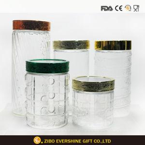 زجاجيّة تخزين مرطبان بالجملة لأنّ طعام أو سكّر نبات
