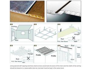 Matériau extérieur bâtiment les carreaux de plafond panneau mural en plastique laminé de panneaux de film
