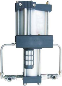 Modello ampiamente usato: 5:1 Pressure Ratio 40 Bar Output Double Acting Air Pressure Booster Pump di Ab05t per Charging Cylinder