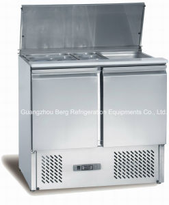 ステンレス鋼サラダ表示カウンター冷却装置