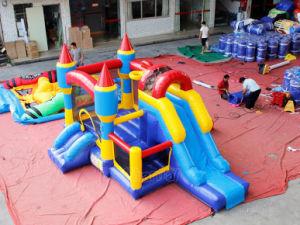 Los cabritos que saltan los Moonwalks inflables Chb737 del castillo