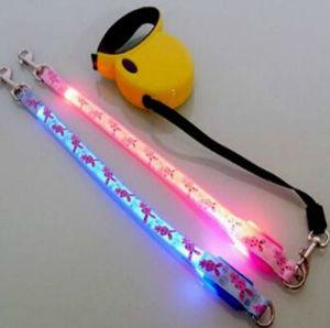 La correa del perro de la cadena de LED y ajustable, cinturón y correa